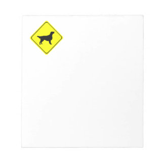 Flat-Coated Retriever Warning Sign Love Dogs Notepad