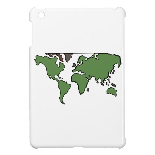Flat Continents Map Case For The iPad Mini