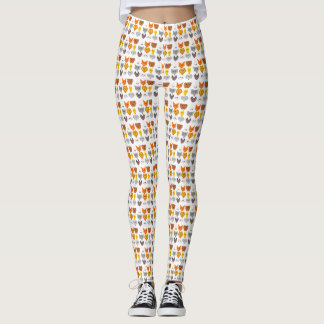 flat deisgn animals leggings