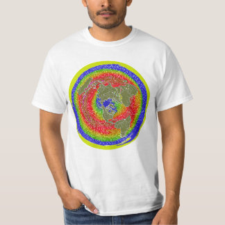 Flat Earth 1 showing temperature & water currents T-Shirt