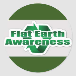Flat Earth Awareness Classic Round Sticker