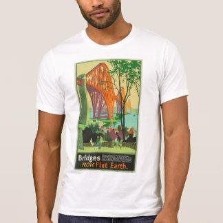 Flat Earth - Bridges Prove Flat Earth T-Shirt