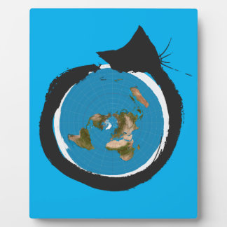 Flat Earth Designs - CAT MAP CLASSIC Plaque