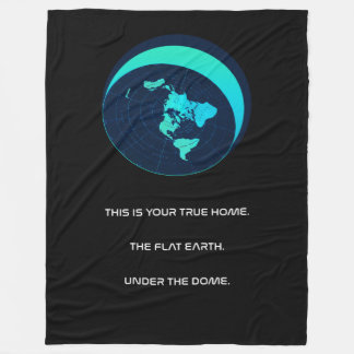 """Flat Earth Fleece Large Blanket """"Under the Dome"""""""