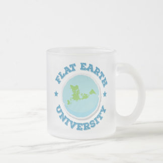 Flat Earth -- Frosted Mug 1