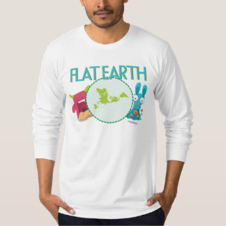 Flat Earth -- Funny Monsters English 1 T-Shirt