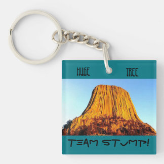 Flat Earth Has No Forests Team Stump Keychain Ring
