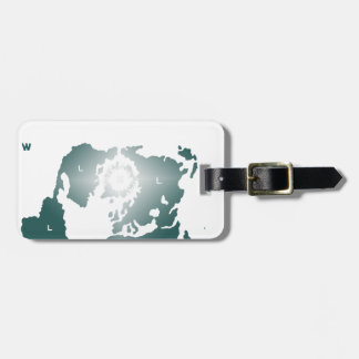 Flat Earth Map, Azimuthal Equidistant Map Zetetic Luggage Tag