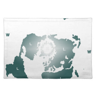 Flat Earth Map, Azimuthal Equidistant Map Zetetic Placemat