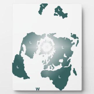 Flat Earth Map, Azimuthal Equidistant Map Zetetic Plaque