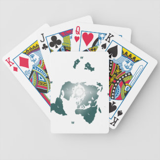 Flat Earth Map, Azimuthal Equidistant Map Zetetic Poker Deck