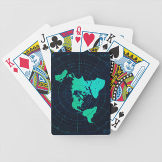Flat Earth Map (Azimuthal equidistant projection) Bicycle Playing Cards