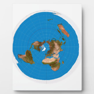 Flat Earth Map - Azimuthal Equidistant Projection Plaque