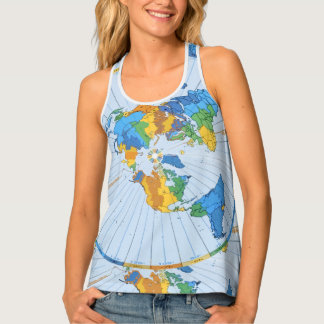 Flat Earth Map - Azimuthal Equidistant Projection Singlet