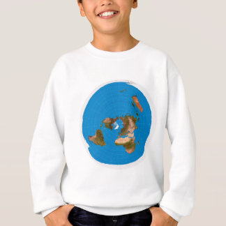 Flat Earth Map - Azimuthal Equidistant Projection Sweatshirt
