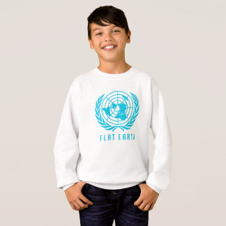 Flat Earth Map KIDS WHITE SWEATSHIRT