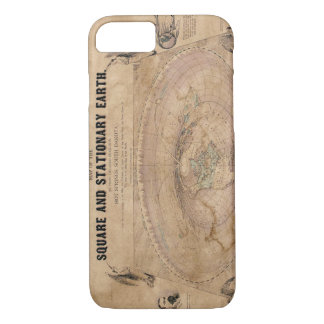 Flat Earth Map of the Square and Stationary Earth iPhone 8/7 Case