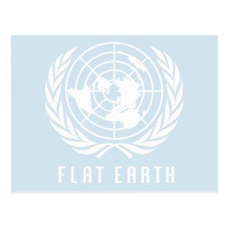 FLAT EARTH MAP Postcard
