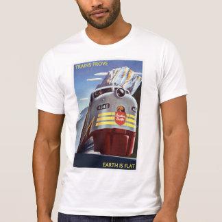 Flat Earth - Trains Prove Earth is Flat T-Shirt