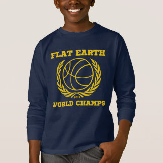 Flat Earth World Champs - KIDS NAVY GOLD SHARP T-Shirt
