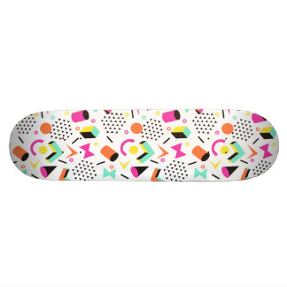 Flat Geometric Squiggly Memphis bold pattern 1980s 19.7 Cm Skateboard Deck