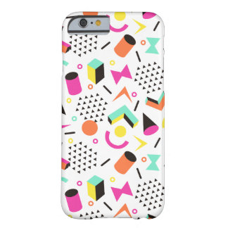 Flat Geometric Squiggly Memphis bold pattern 1980s Barely There iPhone 6 Case