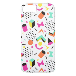 Flat Geometric Squiggly Memphis bold pattern 1980s iPhone 7 Case