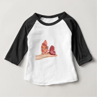 Flat hand showing model human kidney baby T-Shirt
