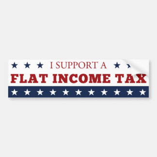 Flat Income Tax Bumper Sticker