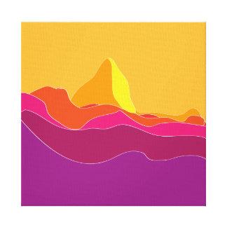 flat landscape canvas print