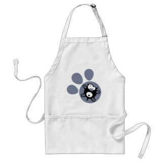 Flat puppy Blue Gray Apron