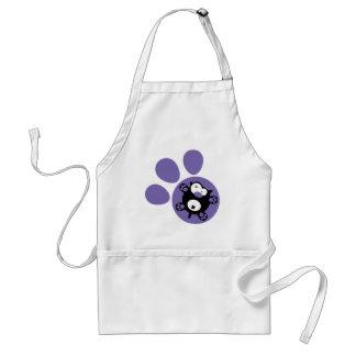 Flat puppy Purple Apron
