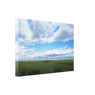Flat Saskatchewan Fields Canvas Print