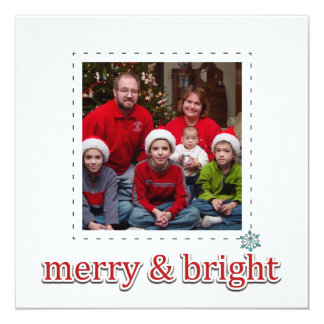 Flat square photo christmas greeting cards