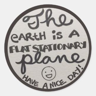 Flat Stationary plane Classic Round Sticker