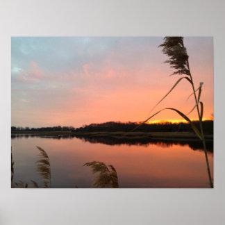 Flat Sunset Poster