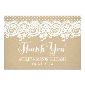 Flat Thank You Card | Kraft Brown 9 Cm X 13 Cm Invitation Card