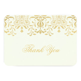 """Flat Thank You Note Card 