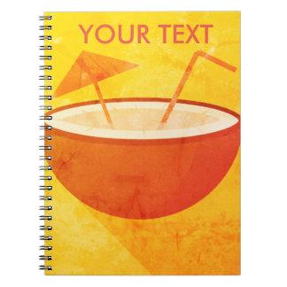 Flat Vector Coconut Notebook