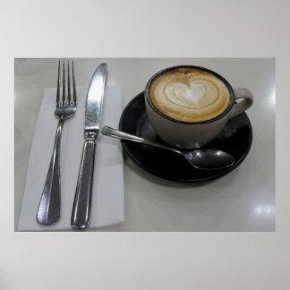 Flat White Coffee Poster