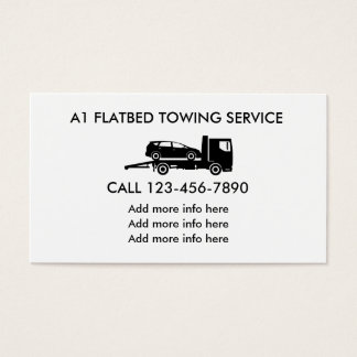 Flatbed Automotive Towing Service Business Card