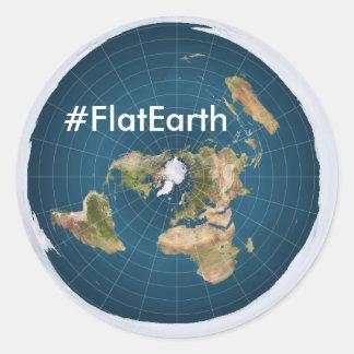 "#FlatEarth 3"" round stickers"