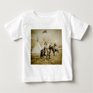 Flathead Indians Vintage Native American Warriors Baby T-Shirt