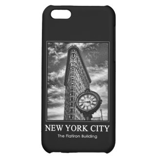 Flatiron Building and Clock in Black and White 1C iPhone 5C Covers
