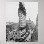 Flatiron Building Construction, 1902 Posters