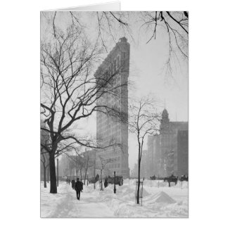 Flatiron Building in Winter, 1902 Card