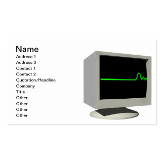 Flatline Monitor Pack Of Standard Business Cards