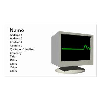 Flatline Monitor Pack Of Standard Business Cards