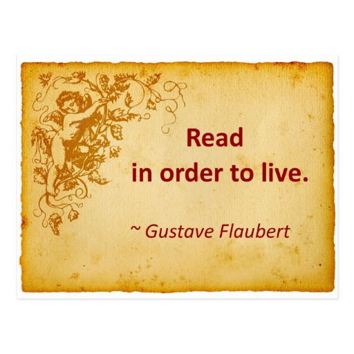 Flaubert Quote on Reading Post Card