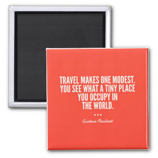 Flaubert Travel The World Magnet